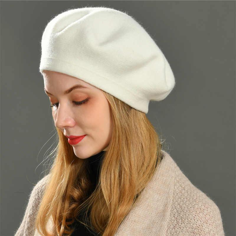 Comparable Vigilancia usuario  Boina Vogue para mujer, gorro de lana de algodón tejido para invierno, boina  de Color sólido de lana para niña|Las mujeres de punto y gorros| -  AliExpress