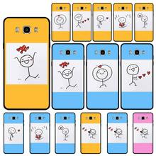 yinuoda pantone candy color case luxury for samsung galaxy note 9 a3 a5 a6 a7 mobile phone accessories Yinuoda Creative Stickman case luxury for samsung galaxy note 9 a3 a5 a6 a7 mobile phone accessories