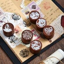 Sueño es salida Series Decoración sello ballena mariposa sellos de goma madera scrapbooking papelería bricolaje estándar sello