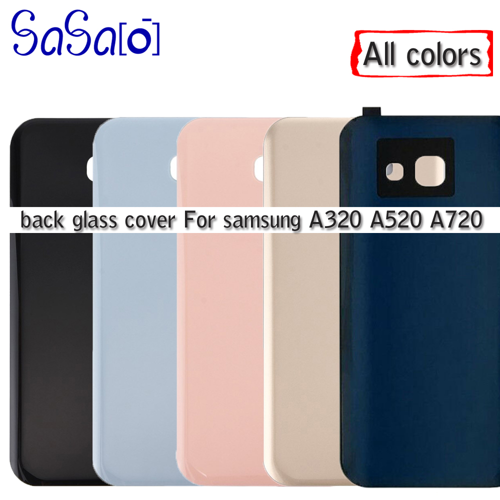 10Pcs A320 A520 A720 Battery Glass Cover Replacement For Samsung Galaxy A3 A5 A7 2017 Back Housing Door with adhesive IMEI Print