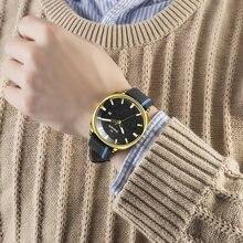 Swish водонепроницаемые черные кожаные часы для мужчин модные