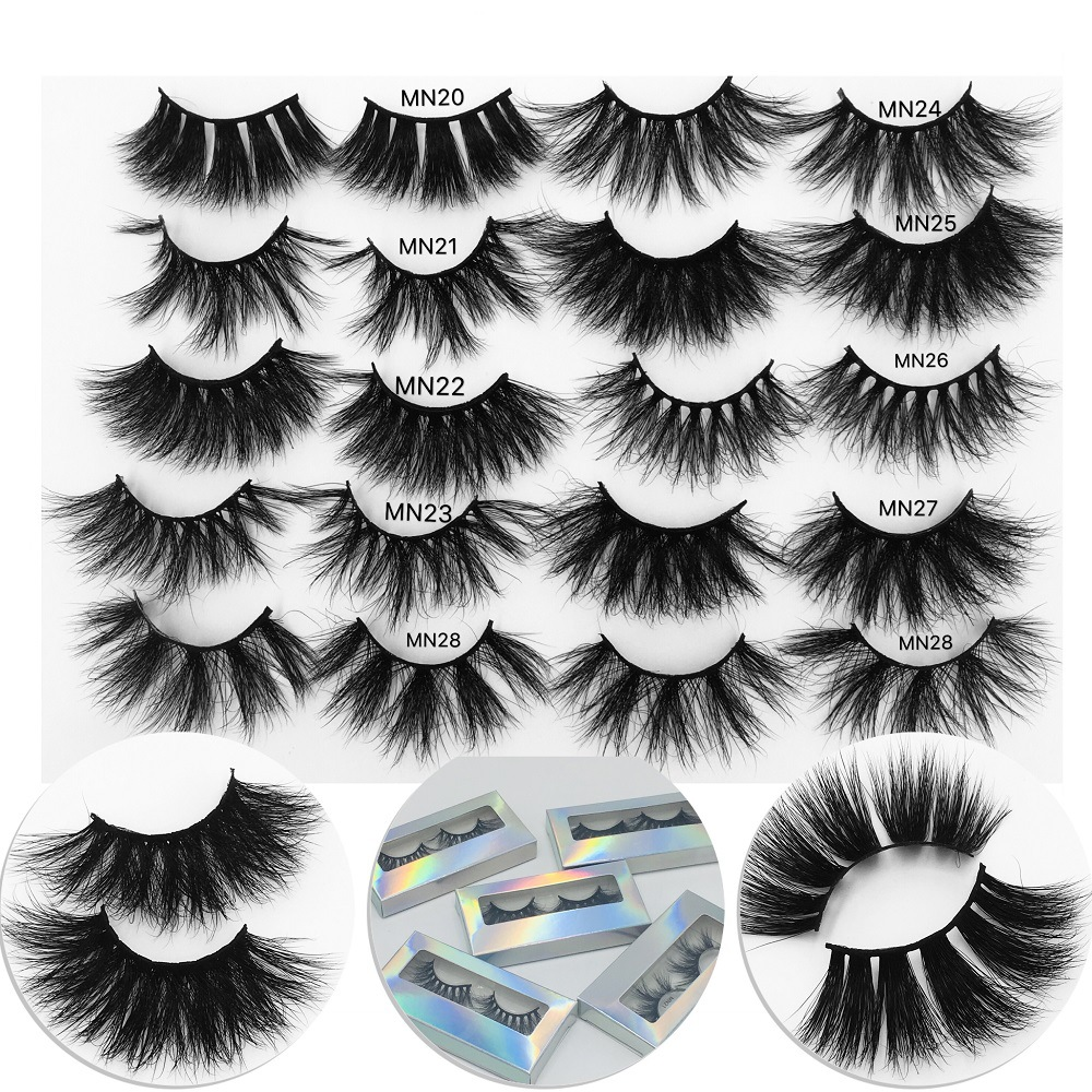 25 Mm Mink Eyelashes 3d Mink Hair Lashes 25mm 3d Mink Lashes Bulk Faux With Custom Box Wispy Short False Eyalshes Natural