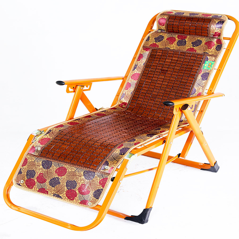 The Elderly Portable Summer Single Chair Folding Chair Lunch Break Bamboo Beach Outdoor Balcony Leisure Office Nap Chair