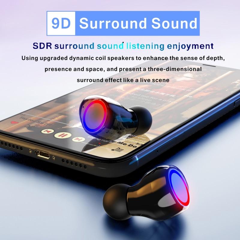 Brezžične bluetooth slušalke z mikrofonom imajo športne - Prenosni avdio in video - Fotografija 4