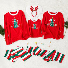 Family Matching Outfits Christmas Pajamas Set dad mom boy girl Sleepwear Nightwear Home Wear new year C0591