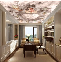 Custom any size photo Dream cloud sky little angel ceiling mural background wall