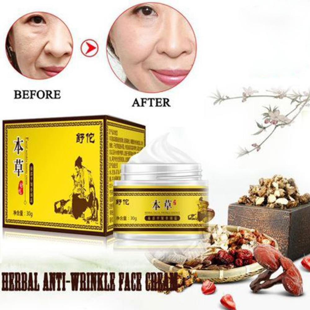 NEW Chinese Herb Face Cream Anti Aging Anti Wrinkle Moisturizing Acne Treatment Repair Skin Care Whitening Firming Facial Cream