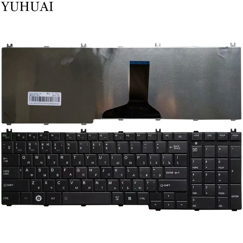 Black US Keyboard Toshiba Satellite L455 Series Laptop Replacement Key