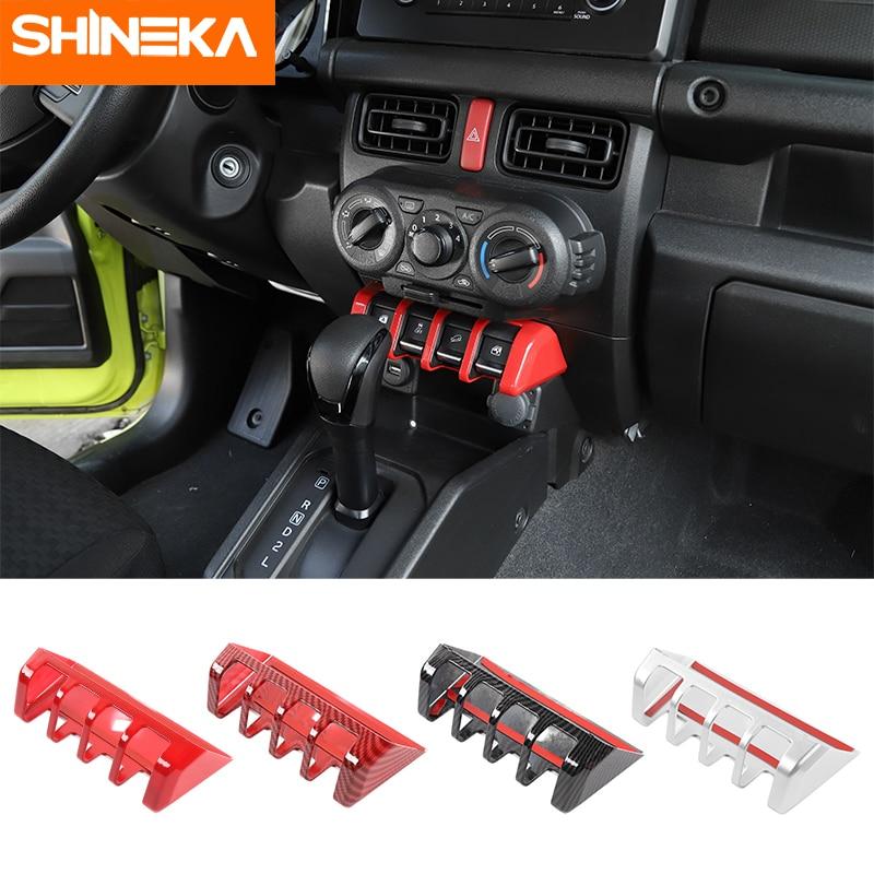 SHINEKA Interior Moulding For Suzuki Jimny Car Window Lifting Switch Panel Trim Cover Sticker Accessories For Suzuki Jimny 2019+