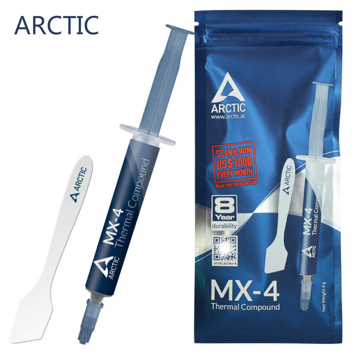 ARCTIC MX-4 2g 4g 8g 20g AMD Intel Processor CPU Kit Cooler Cooling Fan Pc Thermal Grease VGA Compound Heatsink Plaster Paste