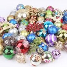 60-70 Kerst Xmas Tree Bal Snuisterij Opknoping Thuis Party Ornament Decor Kerstboom Versierd Bal Geschenken Voor De nieuwe Jaar