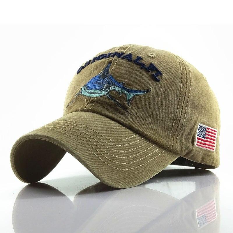 Sport   Baseball     Cap   Men Women Washed Cotton Do Old Hat Embroidered Letter Shark Pattern   Baseball     Cap   Men Casual Snapback   Caps