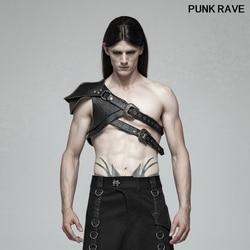 Retro Pu cuero etapa rendimiento vaquero accesorios Steampunk patrón grueso cool hombres brazo manga armadura PUNK RAVE WS-290QTM