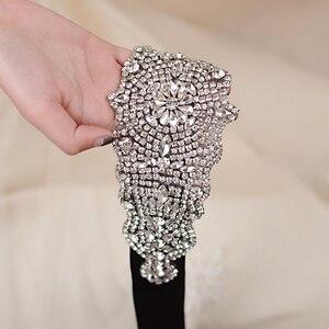 Image 1 - TRiXY S233 superbe ceinture pour femmes ceinture de mariage en cristal strass ceinture de mariée ceintures robe de bal ceinture ceintures large ceinture de mariage