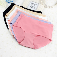 [DINGDNSHOW] 2020 Fashion Middle Waist Briefs Ice Silk Traceless Underwear Panties Women Mesh Hollow Breathable Underpants