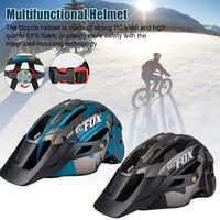 Mountain Bike Helmet All-in-one Safety Helmet Cycling Head Protective Cover With Warning Light For Adult Teen