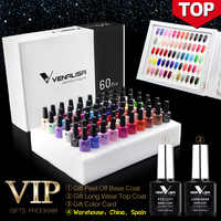 #61508 2019 new 60 fashion color Venalisa gel polish vernish color gel polish for nail art design whole set nail gel learner kit
