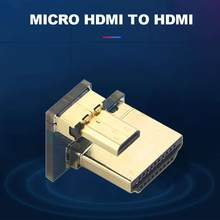 Dla Raspberry Pi 4B Micro HDMI do HDMI Adapter Micro HDMI konwerter(China)