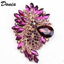 Ювелирные изделия donia, модная популярная брошь, цветная большая стеклянная брошь, Хрустальная стеклянная брошь, женские аксессуары для пальто, булавка, красивый подарок