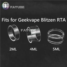 3pcs fatube glass tank for wotofo profile unity rta 3 5ml 3pcs FATUBE bubble glass Cigarette Accessories for Geekvape Blitzen RTA 2ML/4ML/5ML