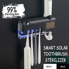 Toothbrush-Holder Sterilize Uv-Light Ce Bathroom-Accessories-Set Squeezers Automatic