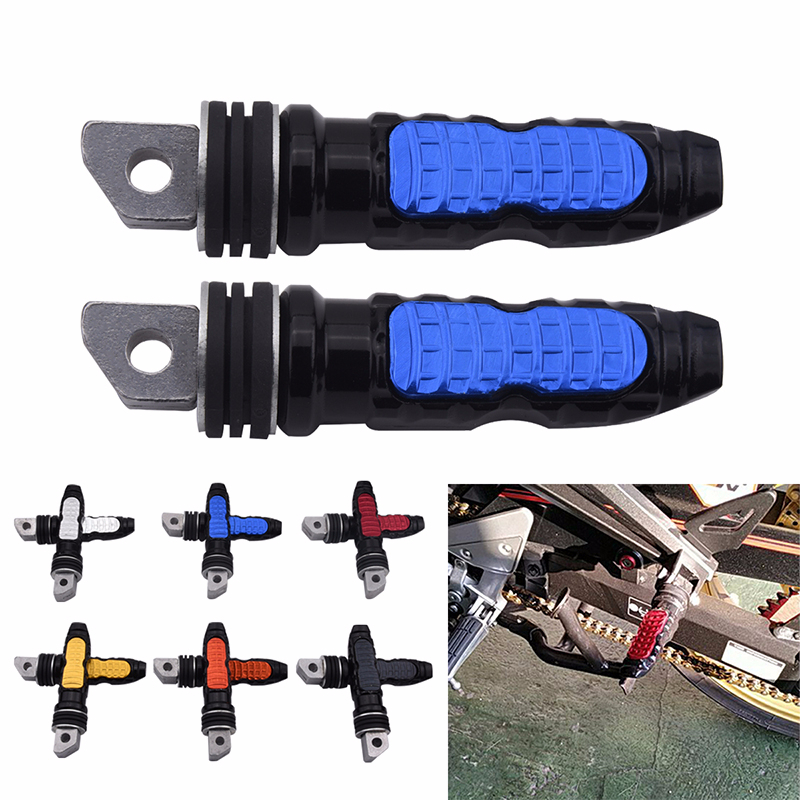 CNC Aluminum Motorcycle Rear Pedal Passenger Foot Pegs Pedals Rear Footrests Foot Pegs Pedals For KTM Suzuki Honda Yamaha
