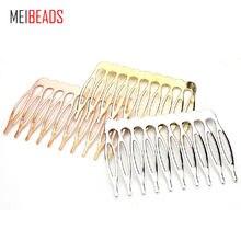10 шт/лот 5/10 украшения для волос металлическая гребень с зубцами