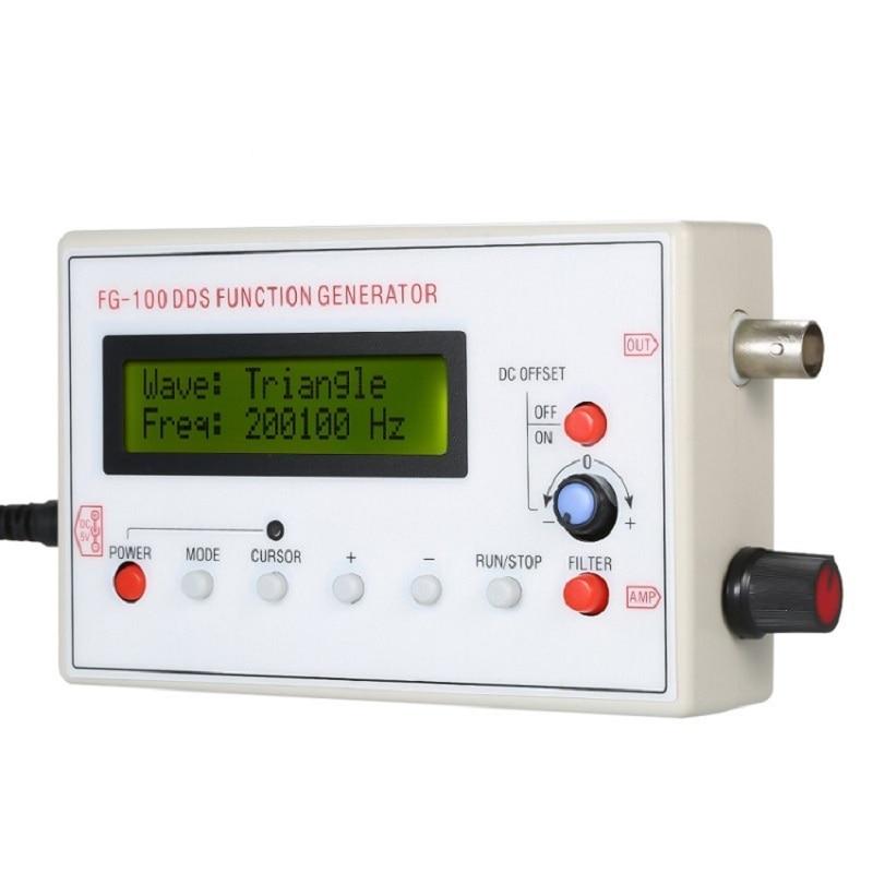 1HZ-500KHZ DDS функциональный генератор сигналов Генератор частоты синус + квадрат + треугольник + Sawtooth Waveform
