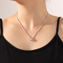 Aprilwell Pendant Necklaces For Women Aesthetic Collar Venetian Box Chain 2021 Lady Trendy Clothing Jewelry Gift E Girl Friend