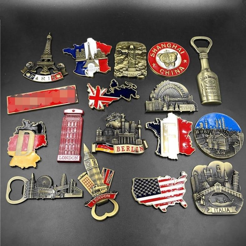 Магнит на холодильник, сувенирный городской декор, Париж, Франция, Германия, США, Великобритания, британская карта, Италия, Берлин, Бразилия, ...
