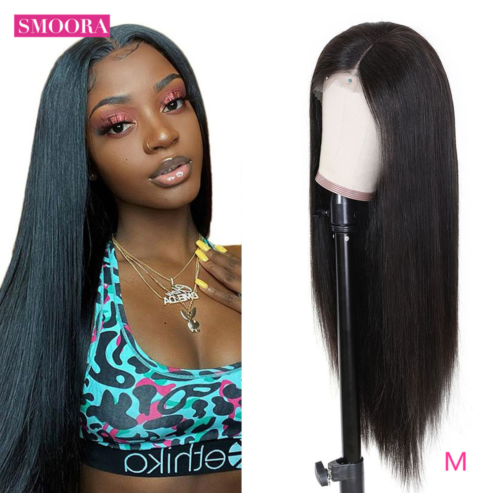 Straight Lace Part  Wigs 13x1 Lace Front Hair Wigs with Baby Hair Pre Plucked  Hair 150% Density 1
