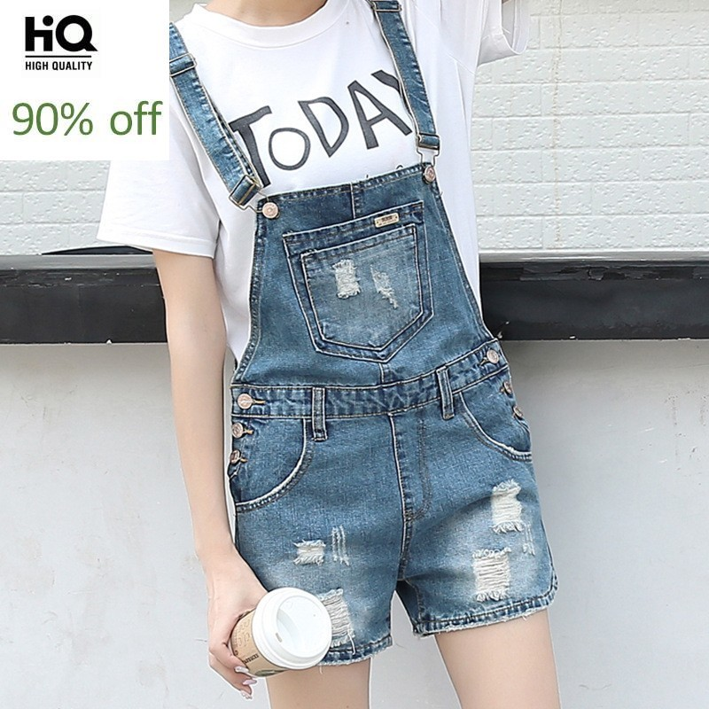 2020 Summer Mother Kids Family Denim Overalls Cowboy Casual Hole Ripped Suspender Straps Short Jeans Pants Holiday Beach Shorts