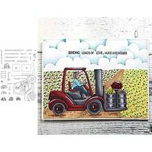 Вилочный погрузчик прозрачные штампы для скрапбукинга и открыток
