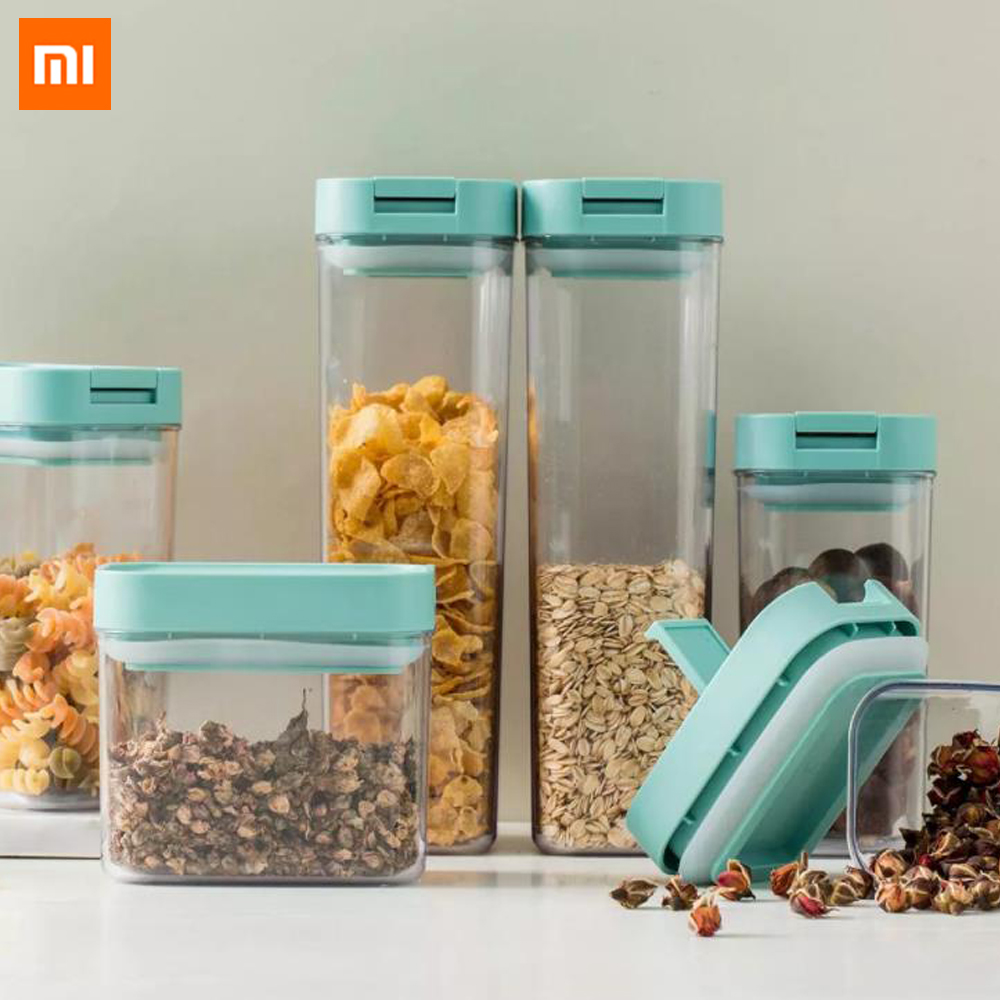 Xiaomi Mijia Multifunctional Plastic Sealed Vacuum Freshness Food Box Stackable Case Vacuum Storage For Kitchen Smart Home Use