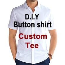Hip-Hop Button-Shirt Custom-Design CJLM Print for Diy Factory Wholesalers-Suppliers Men/woman