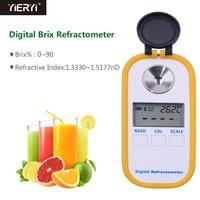 Yieryi DR102 2019 высокий Digital Цифровой рефрактометр с рефрактометром Брикса 0 90% Брикса для сахара в концентрации вина фруктов