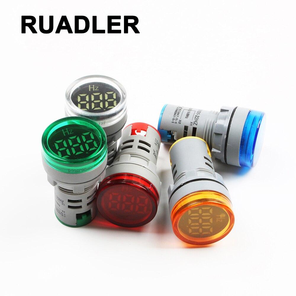 Luz indicadora do medidor de frequência do medidor da eletricidade hertz da indicação digital verificador combinado vermelho 0-99 hz azul branco verde