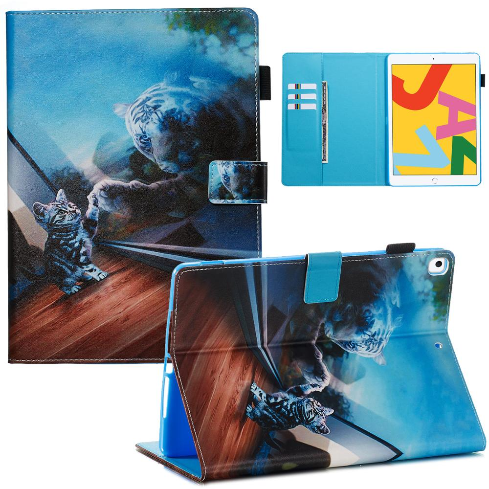 01 Red Cute Flip Stand Case For iPad 10 2 Case 2019 Smart Tablet Cover For iPad 10