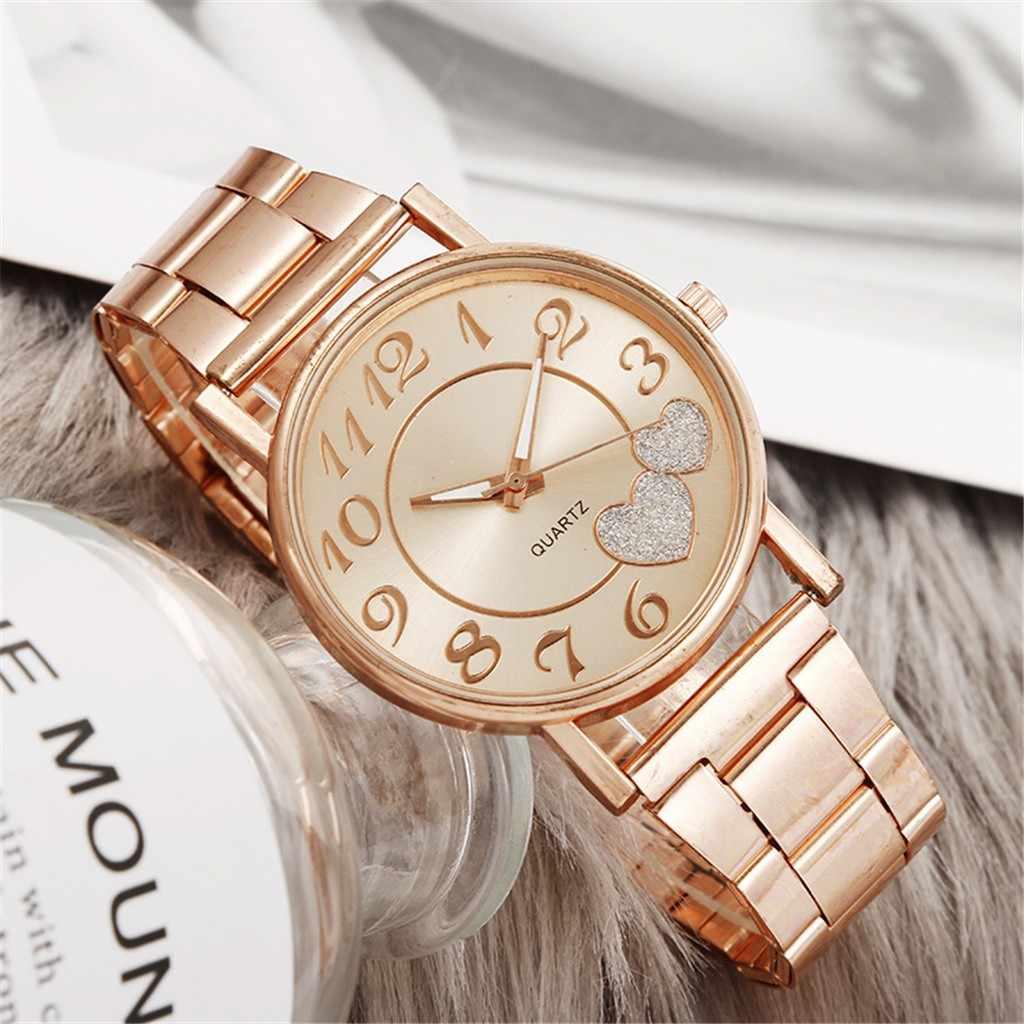 Nuevos relojes de lujo para mujer, reloj de cuarzo con esfera de acero inoxidable, reloj de pulsera informal, reloj de pulsera a la moda para mujer
