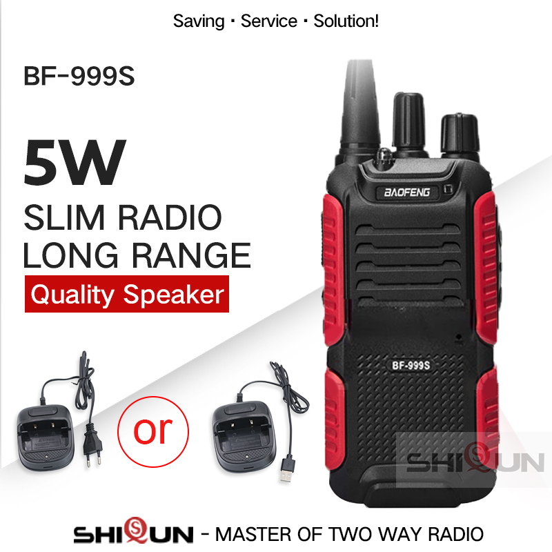 Hot Baofeng Bf-999s Plus Walkies Uhf Band Military Level Two Way Radio 999S(2) For Security,hotel,ham BF999s Upgrade Of 888s 5W