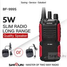 Baofeng quente bf-999s plus walkies uhf banda nível militar rádio em dois sentidos 999s (2) para segurança, hotel,ham bf999s atualização de 888s 5 w