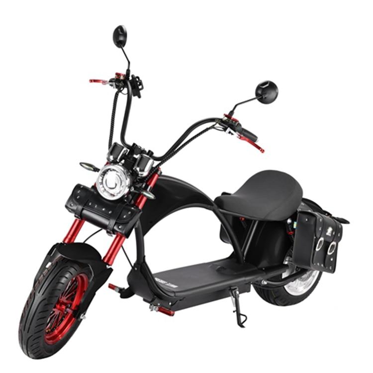 Russe certifié longue portée 3000w M1 Citycoco avec 60V31Ah batterie au Lithium amovible 12 pouces pneu moto électrique