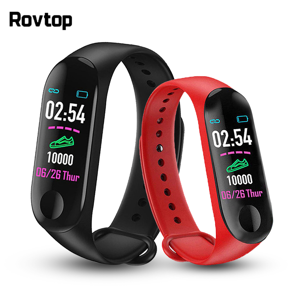 Rovtop Pedometer Wristband Fitness-Tracker-Watch Health-Watch Sleep-Monitor Bluetooth title=
