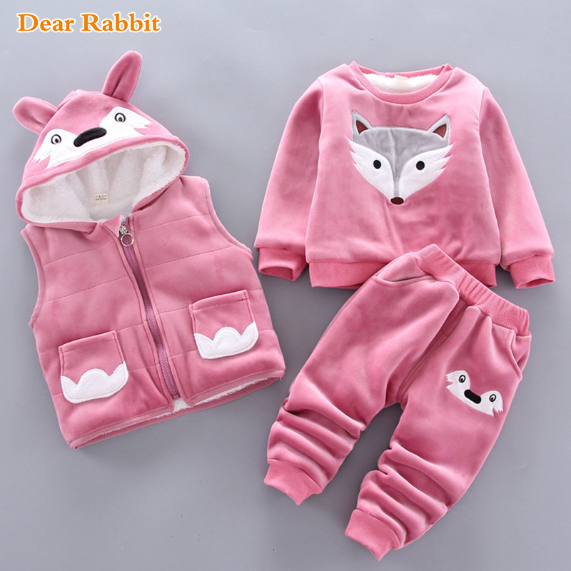 2019 Winter newborn infant boys girls baby clothes velvet tops pullover sweatshirt vest jacket pants outfits sport clothing sets