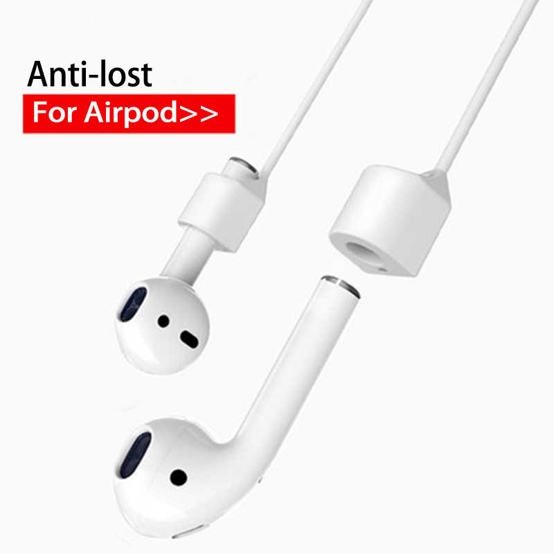 55 Cm untuk Airpods Silikon Anti Hilang Tali Leher Wireless Earphone String Tali Kabel Headphone Earphone Aksesoris