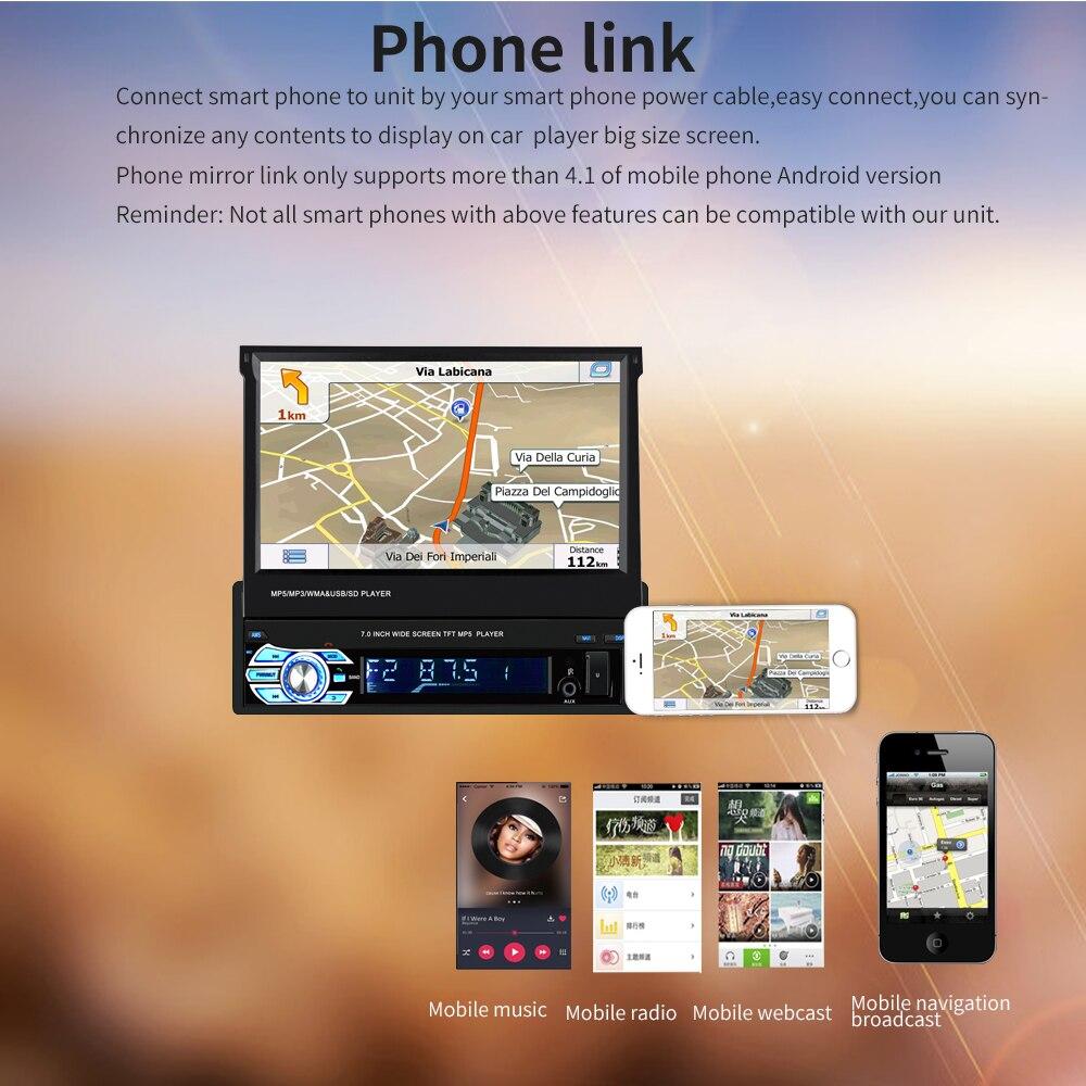 Universal 9601G 1 Din Car Multimedia Player Auto Car Audio Stereo FM Radio GPS Navigation Bluetooth