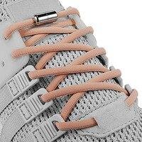 Lacets élastiques sans cravate lacets ronds en métal pour enfants et adultes baskets lacets rapides lacets demi-cercle