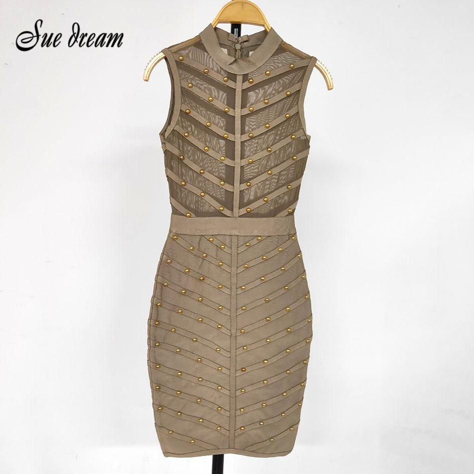 Free Shipping Clearance Summer Sexy O-Neck Mesh Hollow Bandage Dress Fashion Runway Club Dress Vestidos