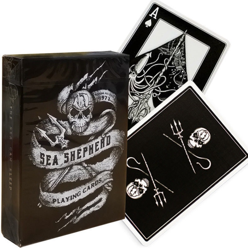 Ellusionist Sea Shepherd SSCS Playing Cards Bicycle Deck Poker Size USPCC Custom Limited Edition Magic Tricks Magic Props Magia