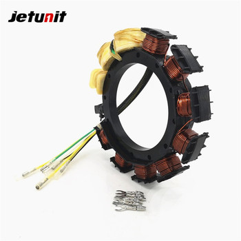 JETUNIT Outboard Stator For Mercury 25-30-40HP 16AMP 2/3 Cyl 398-852386A 4,398-852386T 4,398-852386T6 174-2386